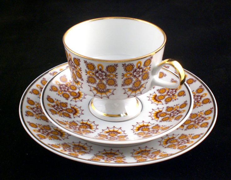 Vintage Gold Trim LICHTE Porcelain China East Germany Set ONLY 39.99$ On isradeal.com the shipping is always ZERO.