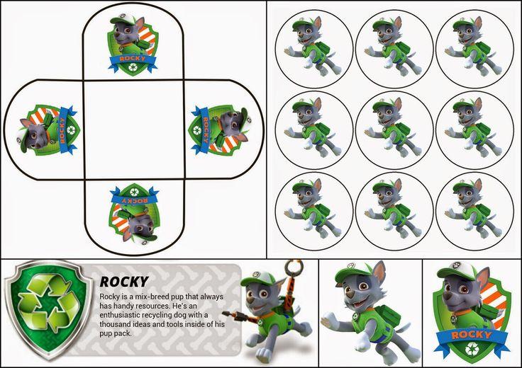 Paw Patrol o Patrulla Canina: Divertido Mini Kit de Rocky para Imprimir Gratis.
