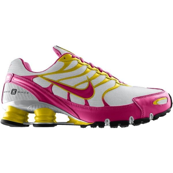 Nike Shox Turbo + VI iD (Narrow) Women's Running Shoes ($140) ❤ liked on Polyvore featuring shoes, athletic shoes, nike, sneakers, sport, tennis shoes, wide width athletic shoes, narrow running shoes, wide running shoes and wide width tennis shoes
