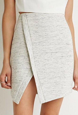Asymmetrical Scuba Knit Skirt | Forever 21 - 2000141070