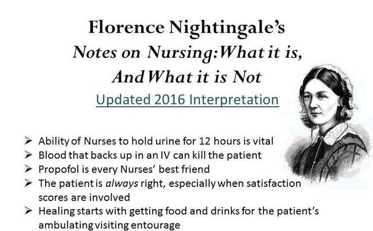 Florence Nightingale's Notes on Nursing 2016 Interpretation - http://gomerblog.com/2015/12/notes-on-nursing/?utm_source=PN&utm_campaign=DIRECT -