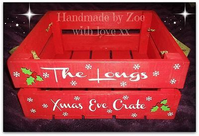 Christmas Eve Box, Personalised Christmas Box, Wooden Crate