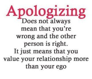 Apologing