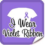 I Wear Violet Ribbon Hodgkin's Lymphoma T-Shirts