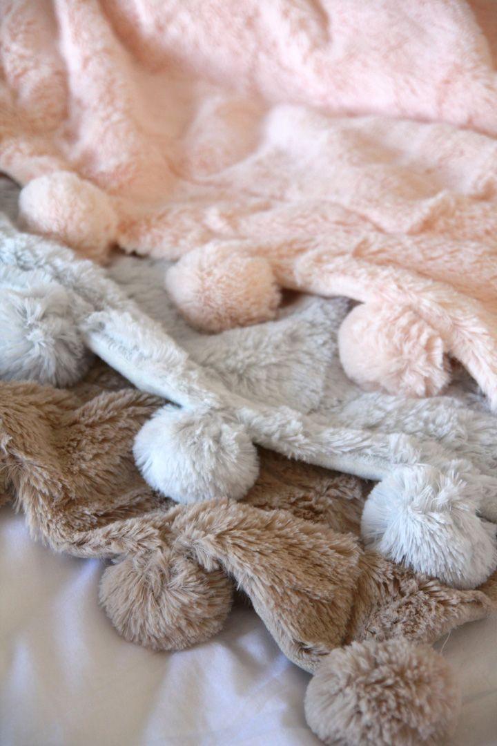 Pom Pom Throw blankets