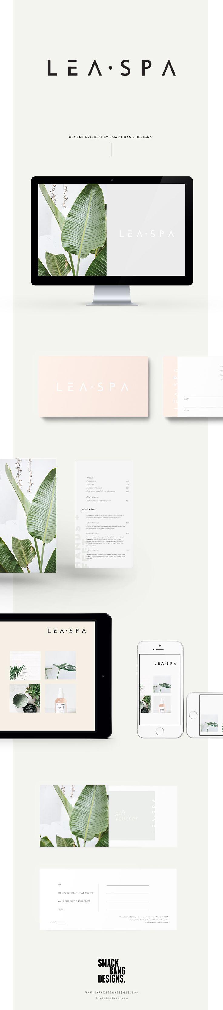 Lea Spa branding by Smack Bang Designs Inspiration de de mise en page pour présentation de projet