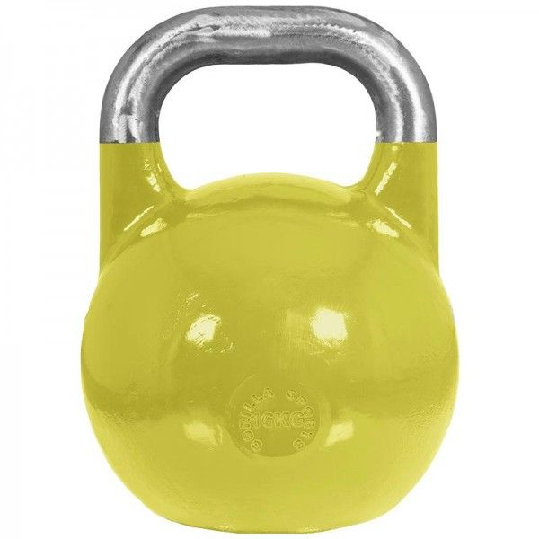 Gorilla Sports: Kettlebell 16 kg Staal (competitie kettlebell)