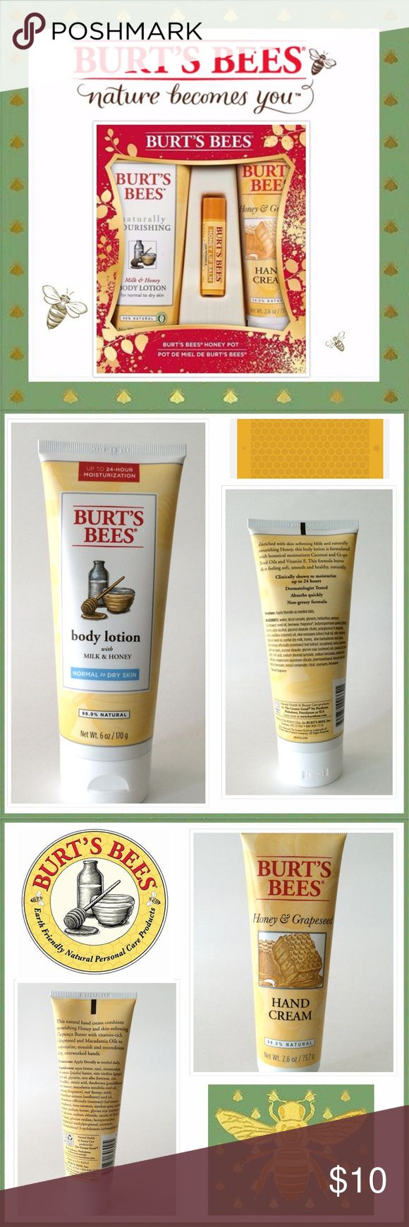 New Burt's Bees Gift Set~ 3 Piece New Burt's Bees Gift Set. Makeup Lip Balm & Gloss