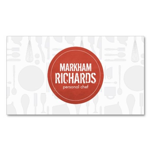 Rustic Red Circle Logo for Chef, Catering, Bakery Business Card. This great business card design is available for customization. All text style, colors, sizes can be modified to fit your needs. Just click the image to learn more!