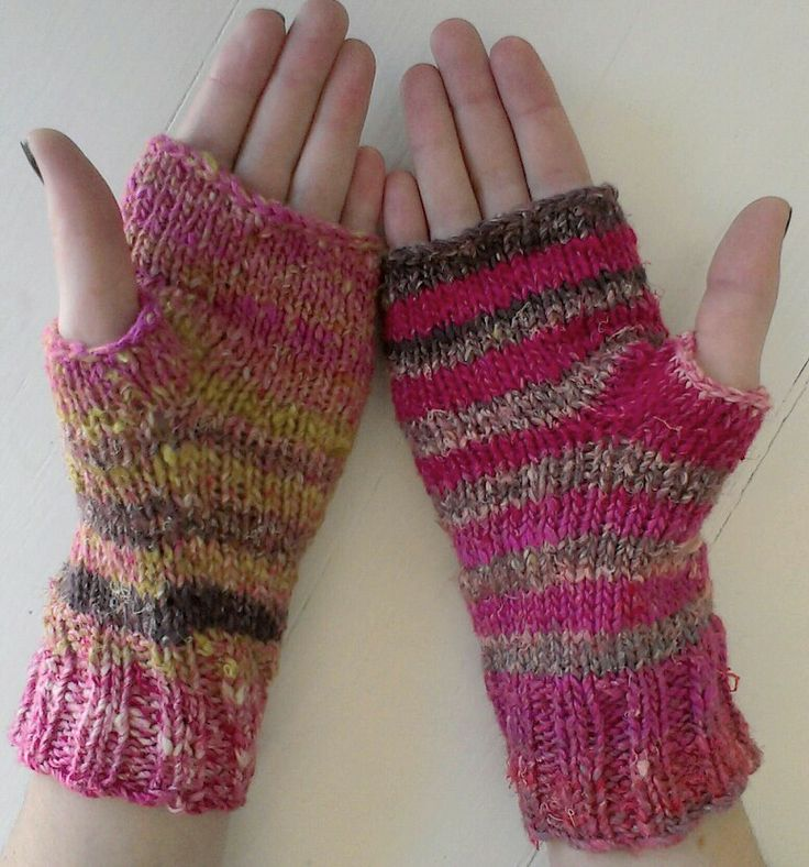 Noro aya fingerless gloves