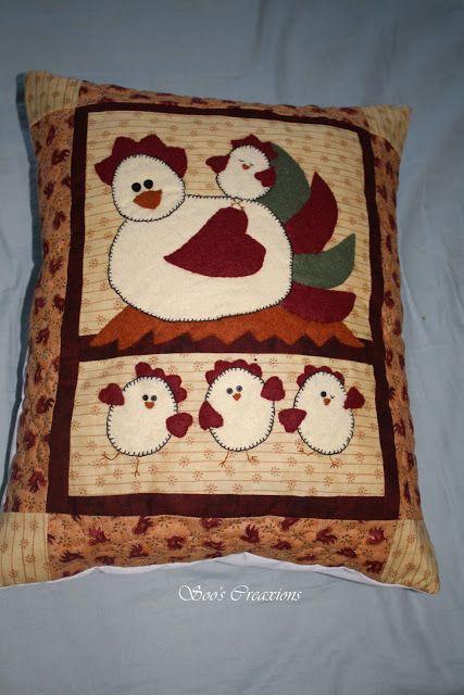 Felt chicken cushion