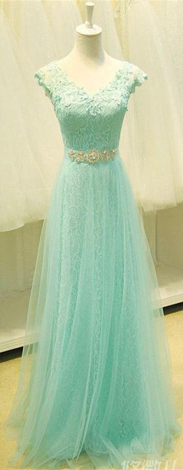 Elegant Beading Chiffon Tulle Appliqued Long Green Prom Dress with Cap Sleeves. https://www.junebridals.com/floor-length-beading-keyhole-chiffon-tulle-lace-organza-satin-dress-p331511.html. Free Shipping! JunrBridals.com selected the best prom dresses, party dresses, cocktail dresses, formal dresses, maxi dresses, evening dresses and dresses for teens such as sweet 16, graduation and homecoming. #prom #dress