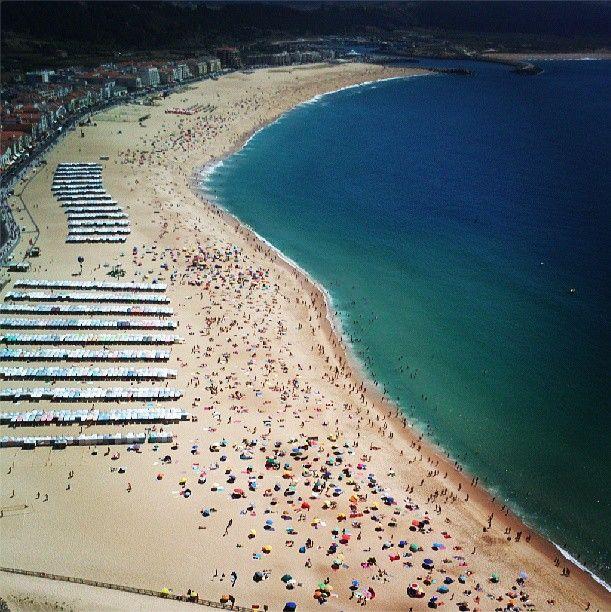 #Nazaré #beach #summer