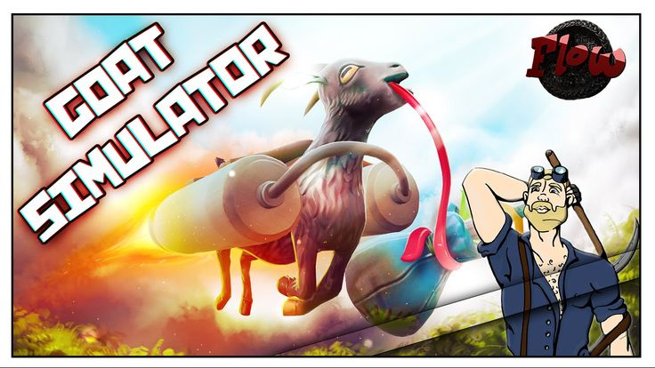FLYING LICKING SUPER GOAT  Goat Simulator