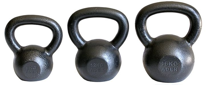 Ader Premier Kettlebell Set- (8, 12, 16 Kg). 8, 12, 16 Kg kettlebells (3 piece set). Pound equivalent: 18, 26, 35 Lb. Ships to all 50 States, APO, FPO, and P.O. Box.