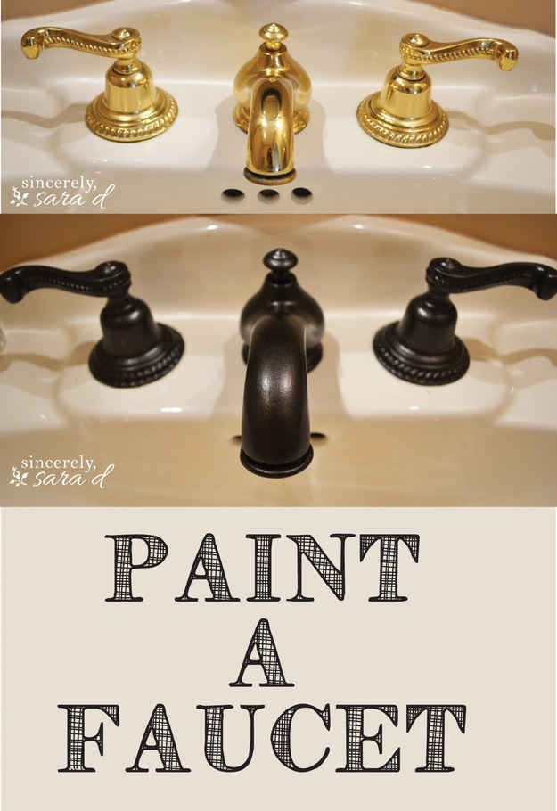 how to paint a small bathroom door knobs faucets and locks are all fairly cheap to paint to make them look brand new check out this great tutorial 23 cheap upgrades that will