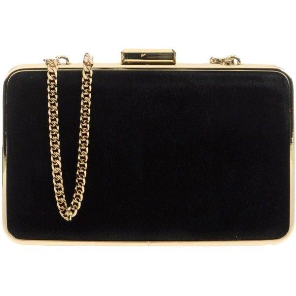 Michael Michael Kors Handbag ($220) ❤ liked on Polyvore featuring bags, handbags, black, black purse, pouch bag, michael michael kors, black pouch and black bag