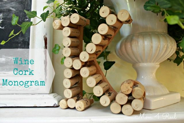 Monogram Made With Wine Corks! THIS is the thing I'm finally going to do with my wine corks. We have a winner, at last!