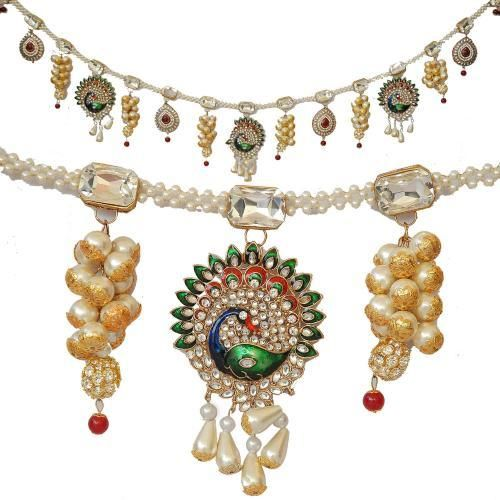 Kundan peacock hanging door hangings bandhanwar indian