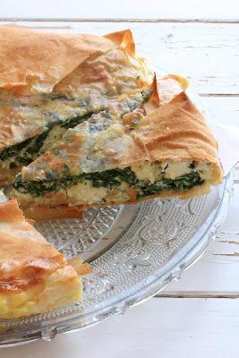 Tourte aux épinards et feta du livre de Jamie Oliver 30 minutes chrono | Ondinecheznanou.blogspot.com