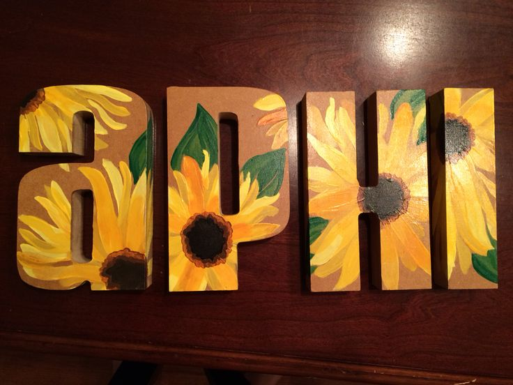 Alpha phi painted sorority letters!