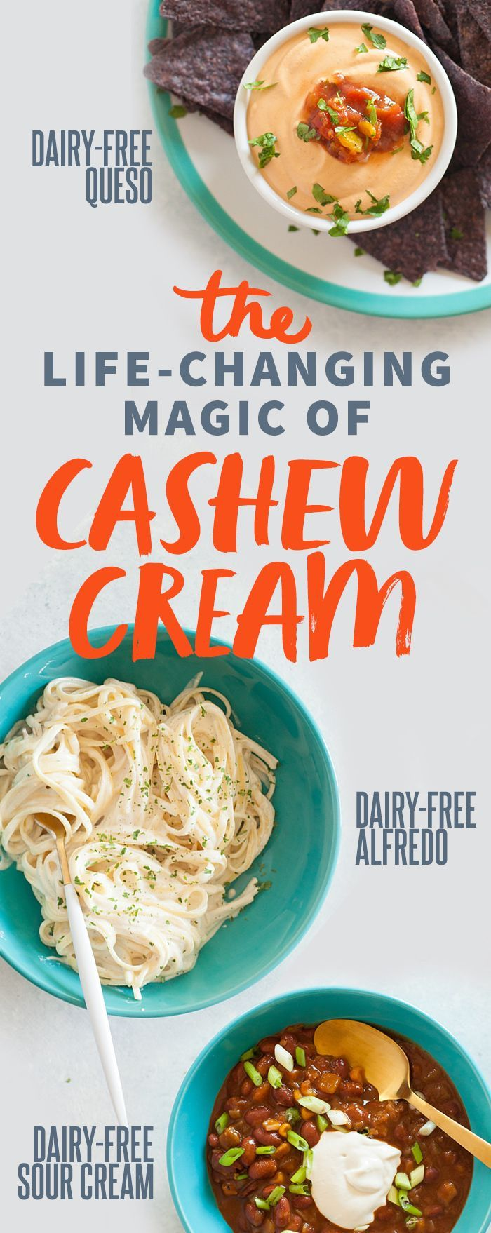The life-changing magic of cashew cream from @wholefully - with 7 different incredible recipes!
