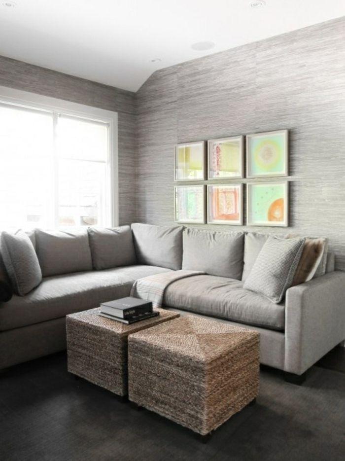 Wohnzimmer Design Tapete Tapeten Wandgestaltung Gestalten