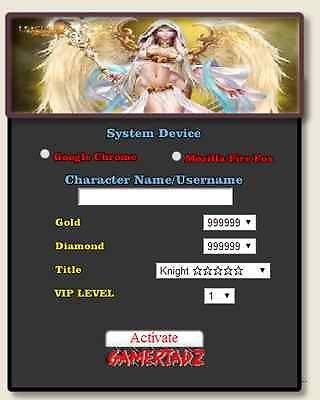 2014 Online League Of angels Hack UNLIMITED GOLD DIAMONDS VIP | eBay