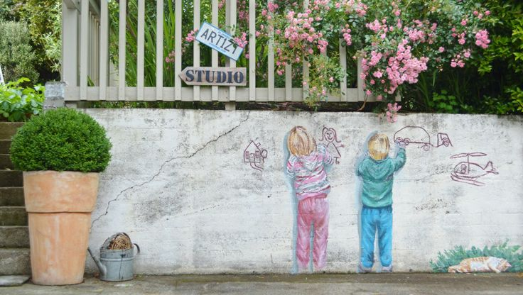 The garden wall outside Studio 202. http://www.facebook.com/RondaTurk.Artist