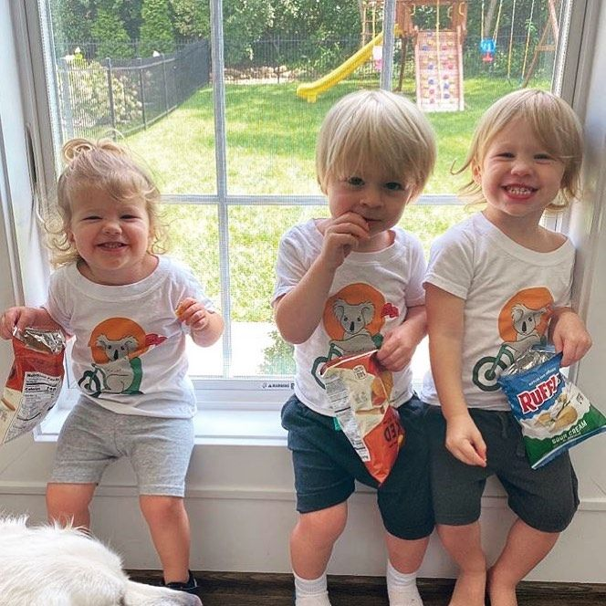 Nhl Wags Babies On Instagram The Pietrangelo Triplets Don T Forget To Check Out And Or Support Teamaxfoundation In 2020 Baby Face Triplets Double Take