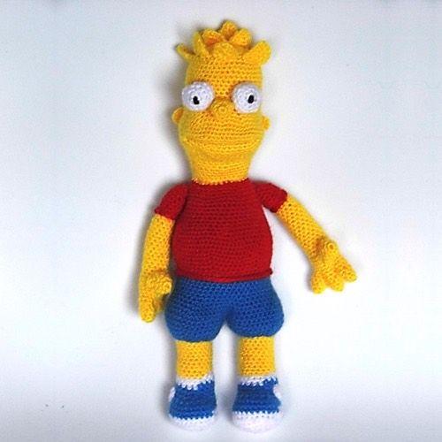 Muñeco Bart Simpson Amigurumi - Patrón Gratis en Español aquí: http://www.patronesamigurumi.org/patrones-gratuitos/personajes/bart-simpson-1/