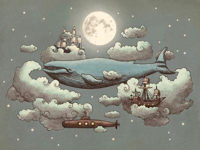 Ocean Meets Sky illustration by Terry Fan