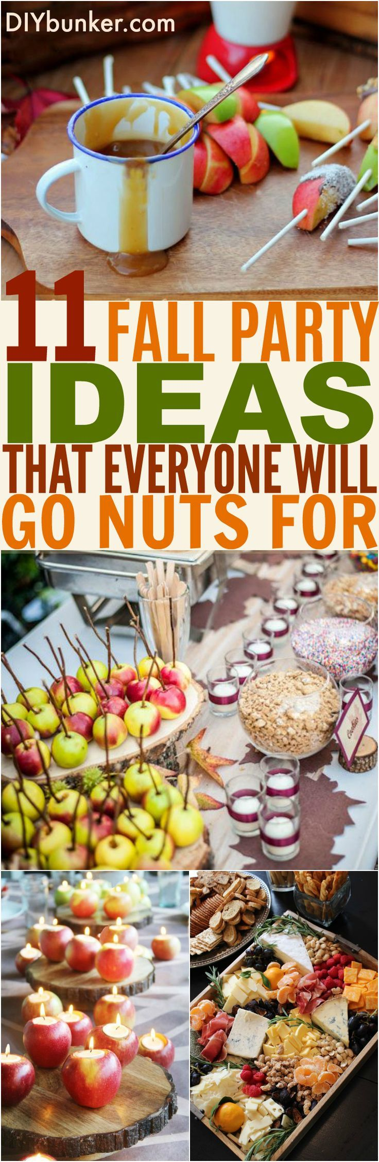 These 11 Fall Party Ideas Are GENIUS! I love the coffee and caramel apple bar ideas, so cool!