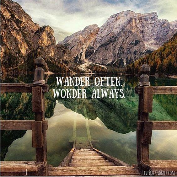 Travel Quote - Wander often, wonder always