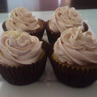 Vodka Lemon Lime - with Angostura Buttercream Frosting from Linnylicious Cupcakes