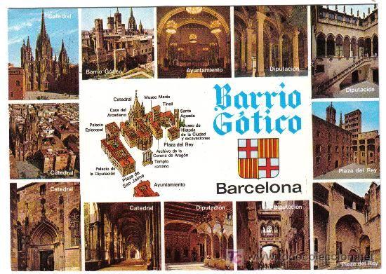 BARRIO GOTICO - BARCELONA. TARJETA CIRCULADA