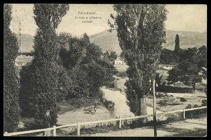 1912. Felnémet, Kilátás a plébánia kertből | Képcsarnok | Hungaricana
