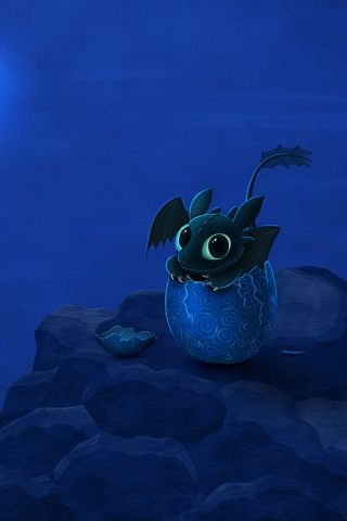 from How to Train your Dragon! Toothless is adorable!
