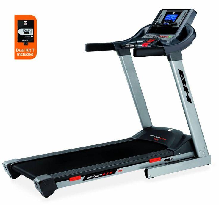 BH Fitness F2W DUAL loopband  Description: Geschikt voor regulier gebruikMaximaal gebruikersgewicht: 135 kg.Motorvermogen piek/continu: 2.75pk / 1.50pkSnelheid: 1-18 km/hMaximale hellingshoek: 12%Inclusief DUAL KIT BE: jaScherm: 6.8? blauw backlit LCD scherm ECO mode: ja Vooringestelde programma?s: 12 Gebruikersprofielen: nee HRC: ja Lichaamsvettest: ja Sneltoetsen voor instellen snelheid: ja Sneltoetsen voor instellen hellingshoek: ja Loopoppervlakte: 135 x 51 cm Dempsysteem: 6 elastomers…