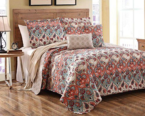 Party Reversible Bedspread Quilt Set, Queen, 3-Pieces