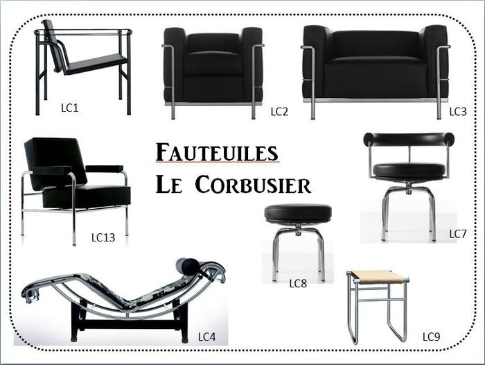 the chairs of le corbusier fauteuiles lc1 lc2 lc3 lc7