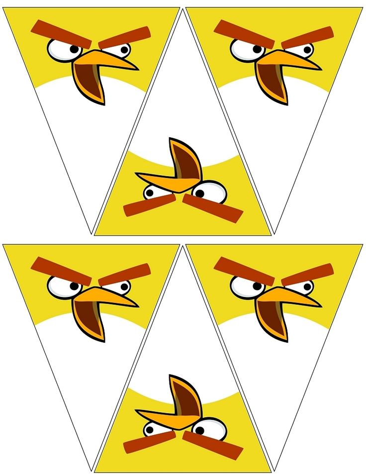 Angry Bird Yellow Banner .... free to use & free to share <3