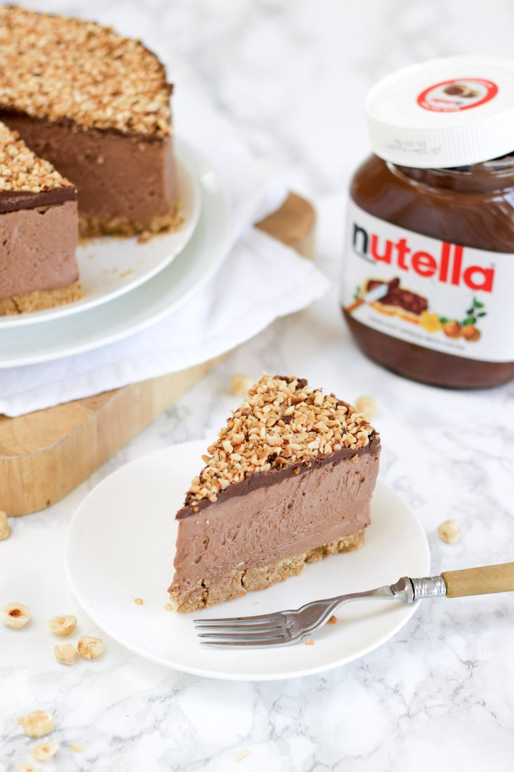 How to make the best ever NO BAKE NUTELLA CHEESECAKE! (With VIDEO tutorial!) This delicious cheesecake is the ultimate in Nutella, chocolate and hazelnut indulgence. This no bake dessert is quick and simple, easy enough for anyone, this is a must try pudding recipe! https://www.tamingtwins.com