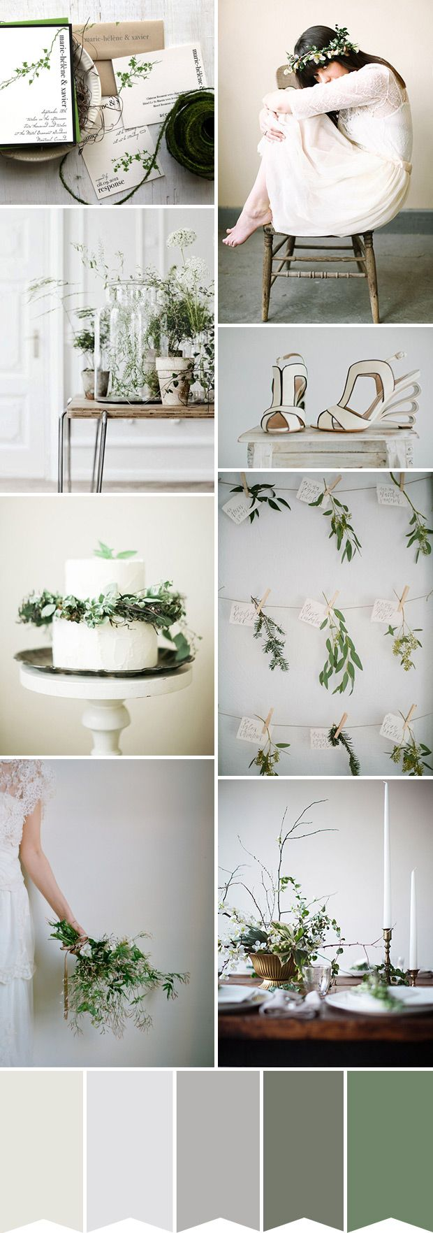A botanical inspired wedding palette | www.onefabday.com