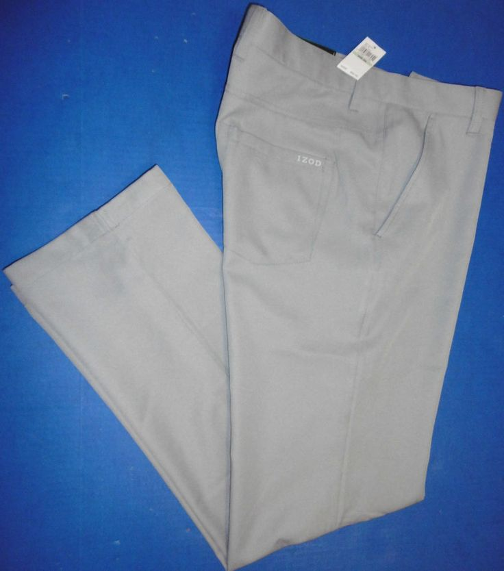 IZOD GOLF PANTS MEN'S DRI-FIT PERFORMANCE-STRETCH SLIM-FIT GOLF SLACKS UPF50  B7 #IZODGOLF #IZODGOLFPANTSDRIFITPERFORMANCESTRETCH