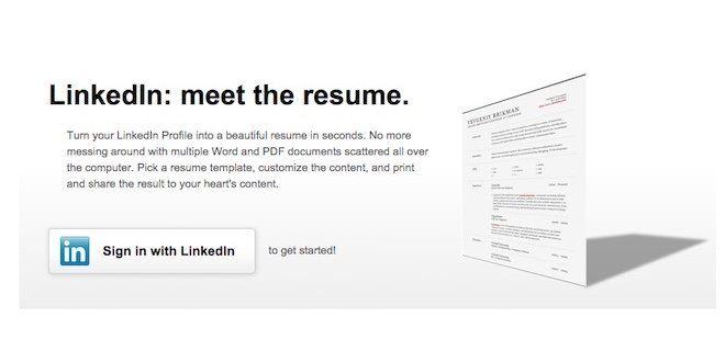 LinkedIn Resume Builder, herramienta que permite crear un curriculum vitae clásico, a partir del perfil que mantenemos en esta red social.
