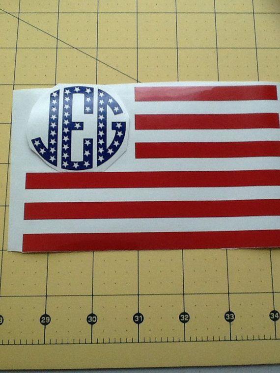 American Flag Monogram - Patriotic
