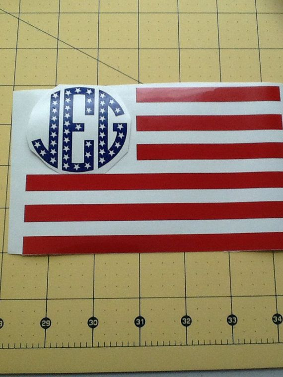American Flag Monogram  Patriotic by NashSignsAndGraphix on Etsy, $8.00