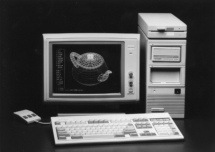 Dell PC with MS-DOS OS.