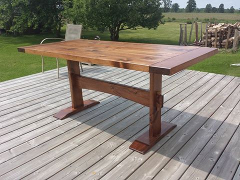 Custom Trestle Tables